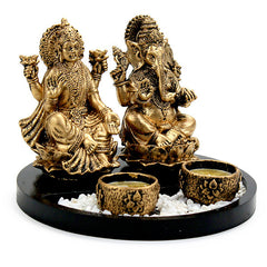 Blessing Lakshmi Ganesha T-Light Holder