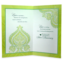 Silver Anniversary Greeting Card