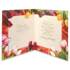 Floral Anniversary Jumbo Greeting Card