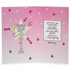 Amazing Daughter`s Birthday Greeting Card