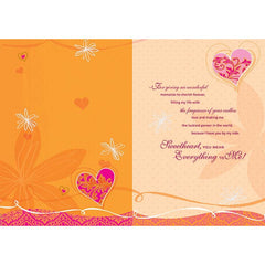 My Love Only For You Personalised Card