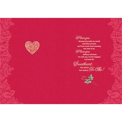 Love You Sweetheart Personalised Card