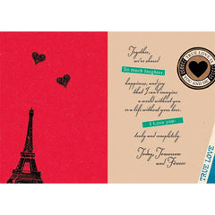 True Love Is You And Me Personalised Card