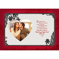 Life Is Beautiful With You Personalised Card