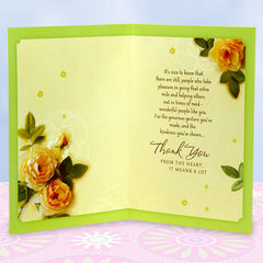 Thank You From The Heart Greeting Card