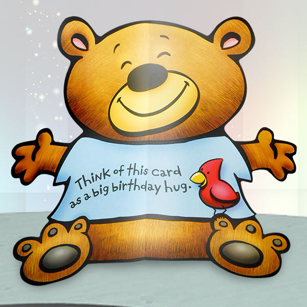 Teddy Bear Shape Birthday Cards