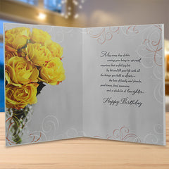 Stylish Floral Birthday Greeting Card