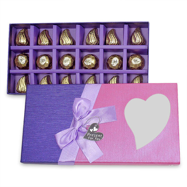 Chocolate In Pink & Purple Gift Box | chocolate for gifting