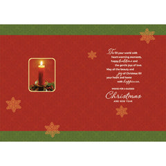 Wishes For A Blessed Christmas Personalised Card