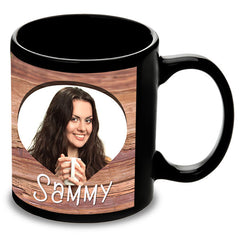 Personalised Black Mug For Love