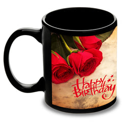 Wonderful Birthday Personalised Black Mug