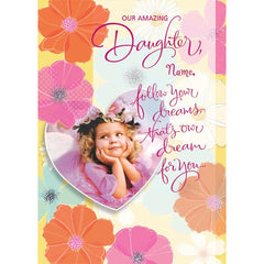Personalised Card For Daughters Day