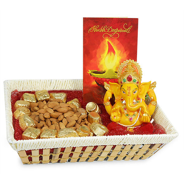 dipawali with chocolate and greetings