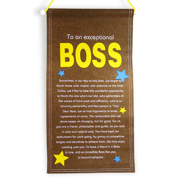 Exceptional Boss Scroll Quotation