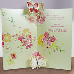 Farewell Wishes Floral Card