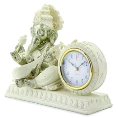 Blessing Ganesha with Desk Clock