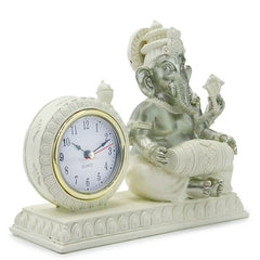 Lord Ganesha with Desk Clock