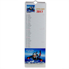 Adventure Slim Wall New Year Calendar