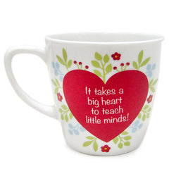 Heart Printed Mug For Best Teacher