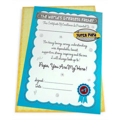 Greatest Father Certificate