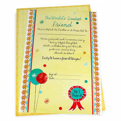 Greatest Friend Certificate