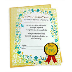 Greatest Parents Certificate