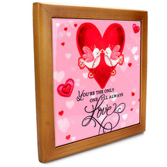 Love Birds Quotation Tile