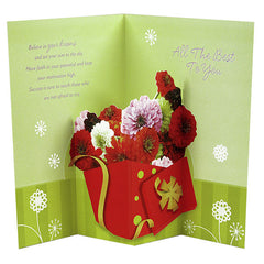 Classy Good Luck Floral Card