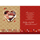 You Will Be My Valentine Personalised Card