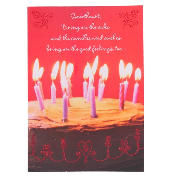 Birthday Cake Candles Card