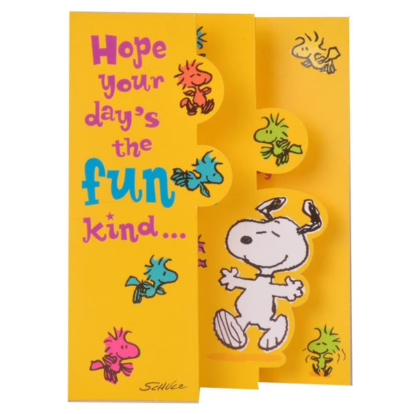 Snoopy Greeting Cards For Fun Birthday