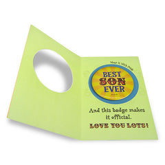 You Are The Best Son Greeting Card