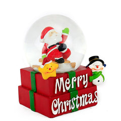 Adorable Christmas Santa Globe