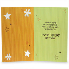 You'Re So Great Son Birthday Greeting Card
