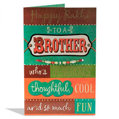 Greatest Brother Rakhi Card