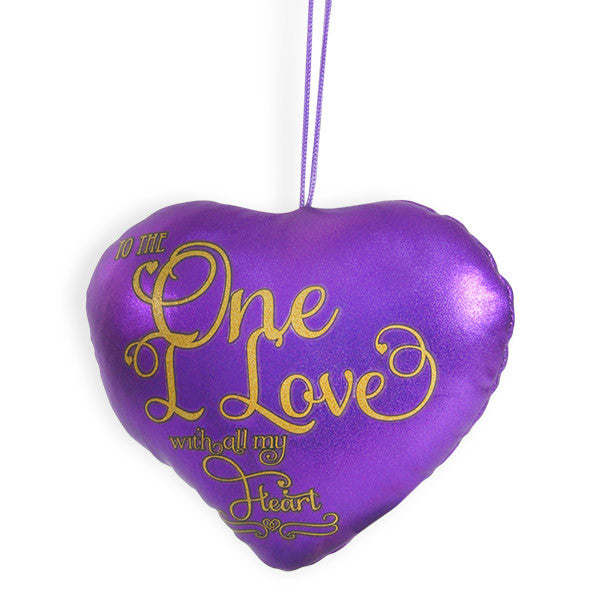 The One I Love Heart cushion