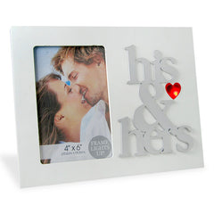 His & Hers LED Photo Frame