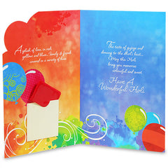 Colors Of Holi Greeting Card