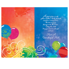 Colors Of Holi Personalised Greeting Card