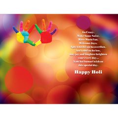 Happy Holi Personalised Greeting Card