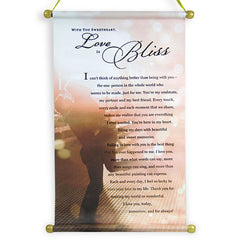 Love Scroll With Bliss Quotation
