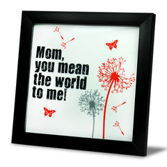 Mom Is My World Tile Frame