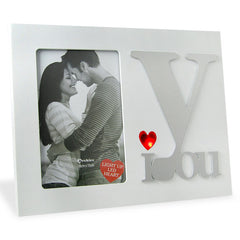Mr. & Mrs. LED White Photo Frame