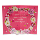 Floral New Year Greeting Card