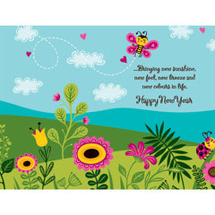 Stunning New Year Personalised Card