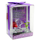 Adorable Wife Glass Quotation