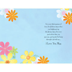 Love You Maa Personalised Greeting Card
