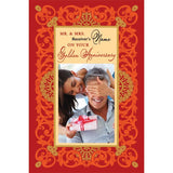personalized cards | Golden anniversary congratulations card online