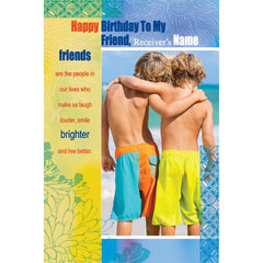 personalized cards | Birthday card for friend online
