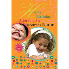 personalized cards | birthday card for sister online